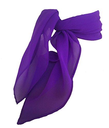 TC 50s Shop Vintage Style Sheer Chiffon Neck Purse Costume Scarf (Purple) (Poodle Tie)