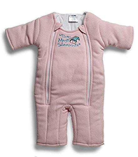 Baby Merlin's Magic Sleepsuit Microfleece-Pink-6-9 months by Baby Merlin's Magic Sleepsuit