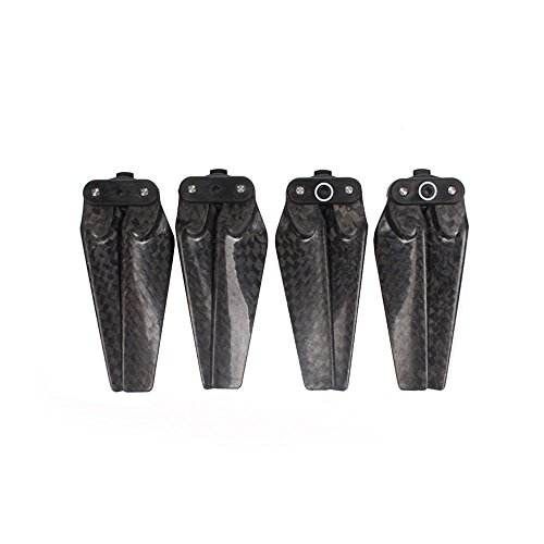 Auntwhale 4PCS High-end Foldable Quick Release Carbon Fiber Drone Propellers for DJI Spark 4730F Low Noise Paddles Rapid Response Balanced Easy Install Replacement Blades