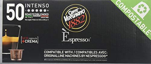 Caffe Vergnano Intenso Espresso Pods - Compostable Capsules (250 gram) ()