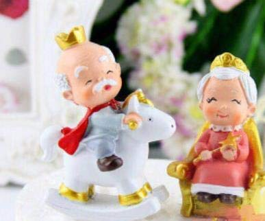 Cute Grandma and Grandpa Figure for Cake Toppers, Aged to Perfection Party Supplies, Kidult Party (Pack of ()