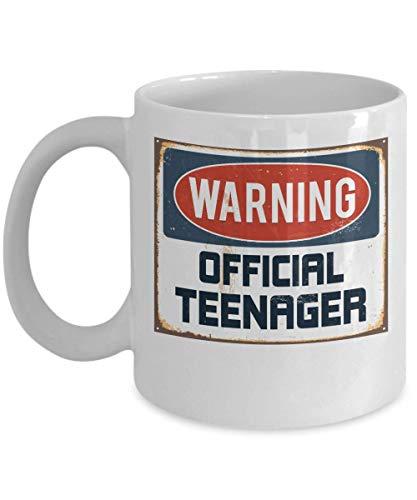 Warning Official Teenager 13th birthday Gift Idea Coffee -