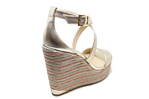 Shoes Portia120platino Pelle Choo Jimmy In Platform Argento Donna qARncgI