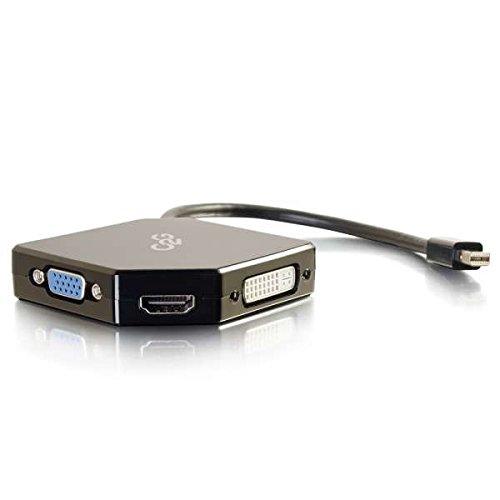 C2G 54341 Mini DisplayPort to 4K UHD HDMI, VGA, or DVI Adapter Converter, Black from C2G