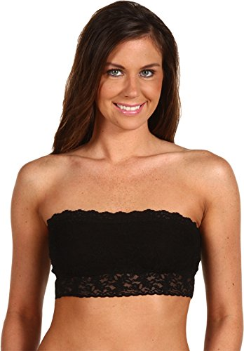 Hanky Panky Women's Signature Lace Lined Bandeau 487102 Black MD