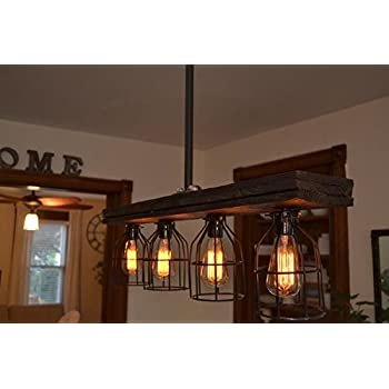 Rustic Wood Light (W/Cages)