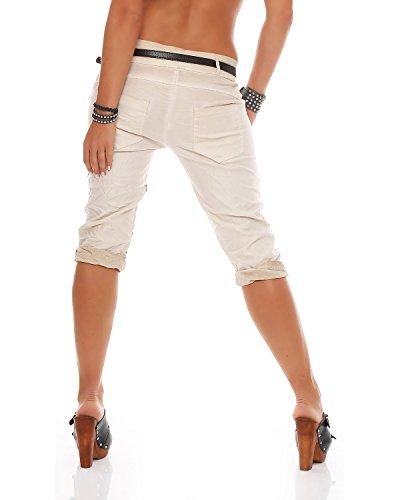 Beige con Pantalones Jegging's Pantalones Pantalones estampado mujer baggy ZARMEXX estampados para Pantalones de Capri Capri vaqueros para novio capri estrellas 8qfTqHg