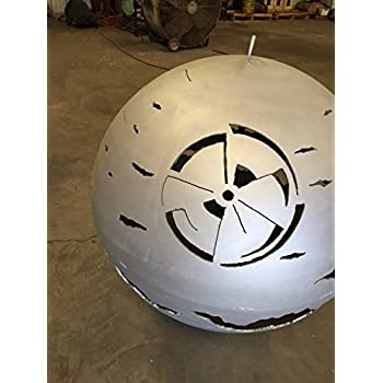 Amazon Com Custom Designed Death Star Fire Pit 30 Inch