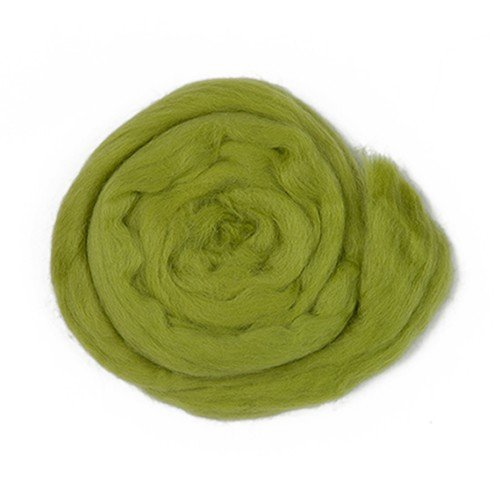 Kartopu Felt Wool 1.76 Oz (50g) Needle Felting Wool Roving, 100% Wool (Green - - Green 100% Wool