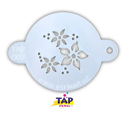 TAP 002 Face Painting Stencil - (Halloween Face Painting Flowers)