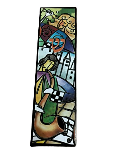 EASY MOUNT KLEZMER MUSIC Art Glass Mezuzah, EASY MOUNT with GIFT BOX and Non-Kosher Scroll INCLUDED. Great Mezuzah for Bar or Bat Mitzvah Gift, Music Lover, Kids Room, Dorm ()