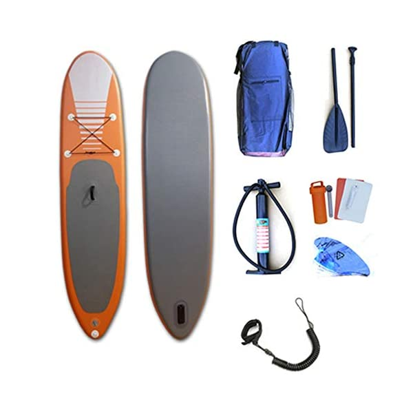 Kanqingqing-Sport Stand Up Paddel Gonfiabile 31.5 Pollici Wide Lago Gonfiabile SUP Stand Up Paddle Water Board Yoga SUP… 1 spesavip