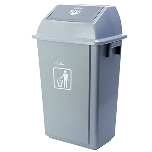 (TUI-YONG Untouchable Square Trash/Garbage Container with Lid, Top and Large Soft Trash Can Combo Pack, Swing Lid Trash Can for Indoor, Outdoor Or Commercial Use/23L, 42L, 58L (Size : 58L) )