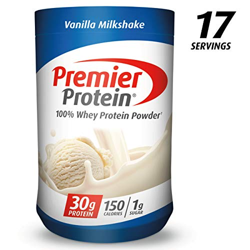 Premier Protein Whey Protein Powder, Vanilla, (17 Servings) (Advantages Of Drinking Hot Water In The Morning)