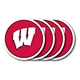 NCAA Wisconsin Badgers Vinyl Coaster Set (Pack of 4)
