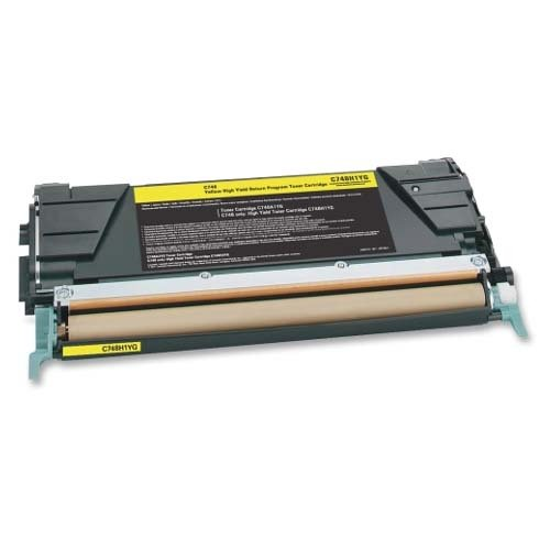 C748H1YG, X746A1YG Lexmark Compatible Laser Toner Cartridge, Yellow Ink: CLC748Y (1 Laser Toner Cartridge)