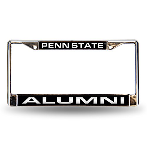 Rico Industries NCAA Penn State Nittany Lions Laser Cut Inlaid Standard License Plate Frame, Chrome, 6