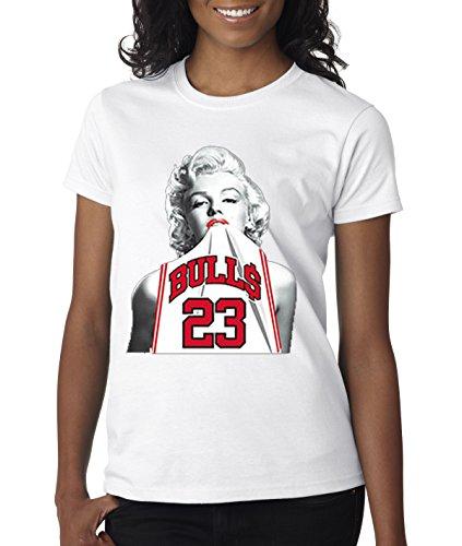Women's T-Shirt Marilyn Monroe Bulls 23