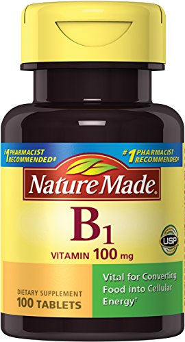 Nature Made Vitamin B1, 100mg, 100 Tablet
