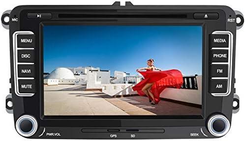 AWESAFE Radio Coche 7 Pulgadas con Pantalla Táctil 2 DIN para Volkswagen, Autoradio para VW con Bluetooth/GPS/FM/RDS/CD DVD/USB/SD, Apoyo Mandos ...