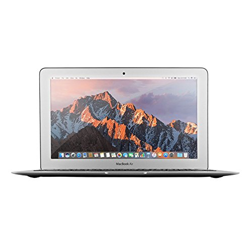 Apple MacBook Air MJVM2LL/A 11.6-Inch laptop(1.6 GHz Intel i5, 128 GB SSD, Integrated Intel HD Graphics 6000, Mac OS X Yosemite – (Certified Refurbished)