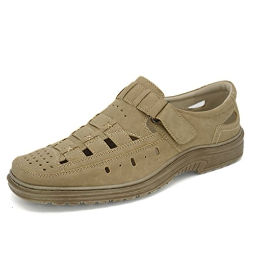 Beige Uomini Traspirante Sandali Spiaggia Scarpa Mens Estate Shoes Qianliuk 8WdT6wS8