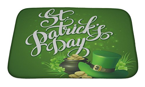 St. Patrick's Day Bath Rug, 24x17