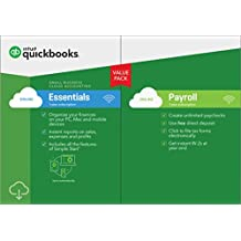 QuickBooks Online Essentials with Payroll 2019, 1 Year Subscription [PC/Mac Online Code] [PC Download]