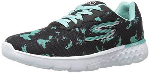 Skechers Performance Women's Go Run 400-Dash Walking Shoe, Black/Aqua, 10 M US