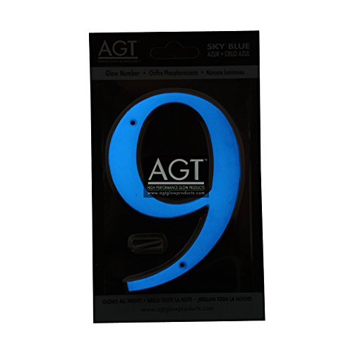"""AGT 5"""" Glowing House Number #9 - Sky Blue"""