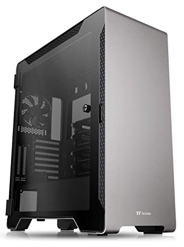 Thermaltake A500 Aluminum Tempered Glass ATX Mid Tower Gaming Computer Case with 3 Fans Pre-Installed CA-1L3-00M9WN-00 (Vertical Computer Tower)