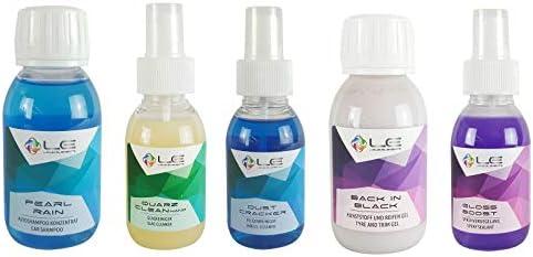 Liquid Elements 5 Teiliges Probe Set Autoshampoo Glasreiniger Felgenreiniger Auto