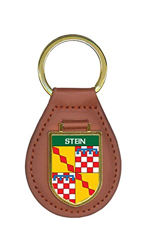 (Stein Family Crest Coat of Arms Key Chains)