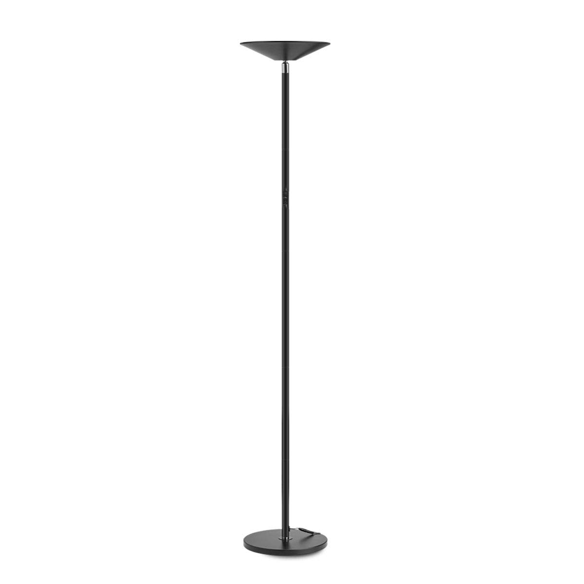 Floor Lamp, LED Torchiere Super Bright Floor Lamps, Dimmable 20W LED Floor Light with Touch Control and Wall Switch, Standing Lamp with Stepless Dimmer for Living Room and Bedroom. 90° Adjustable Top.