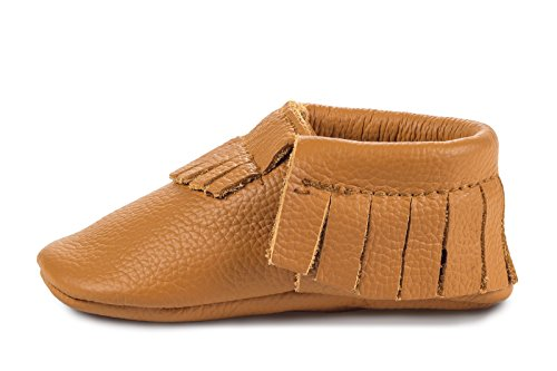 BirdRock Baby Moccasins - Premium Soft Sole Leather Boys and Girls Shoes For Infants, Babies, Toddlers (Small | 6-12 Months | US 4, - Soles Gingers No Have