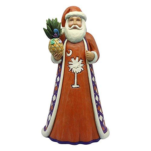 "(Enesco 4060270 Jim Shore Heartwood Creek South Carolina Santa, 7.25"" Stone Resin Figurine)"