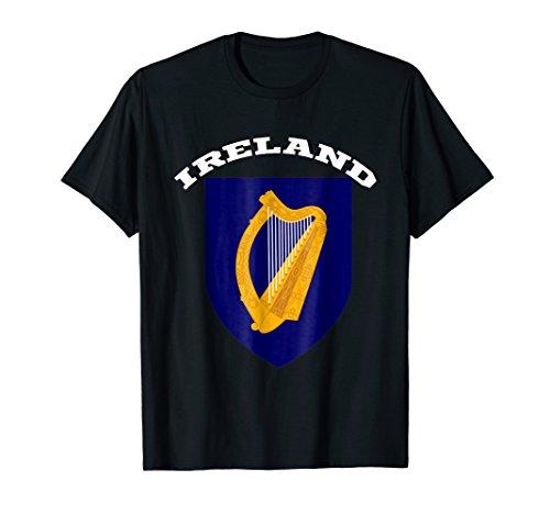 - Ireland T-shirt Coat of arms Tee Flag souvenir Dublin
