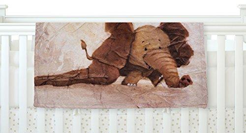 KESS InHouse Rachel Kokko The Elephant with the Long Ears Fleece Baby Blanket 40 x 30 [並行輸入品]   B077ZV621P