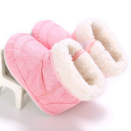 Pictures of Fnnetiana Unisex Baby Soft Sole Anti-Slip Dark Pink 4