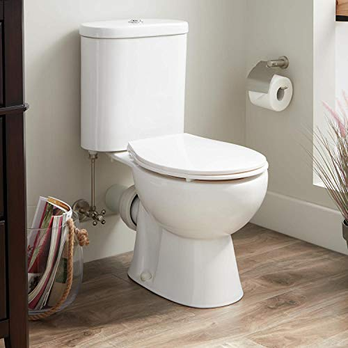 Signature Hardware 350101 Burdett 1.6/0.8 GPF Two Piece Elongated Toilet with Rear Outlet - Seat Included