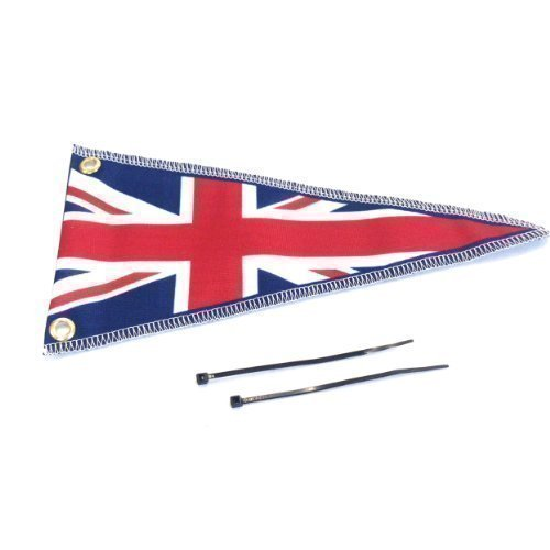 Car Aerial Flag Plain Union Jack Pennant Scooter Aerial Flag Ideal Gift L&S PRINTS FOAM DESIGNS