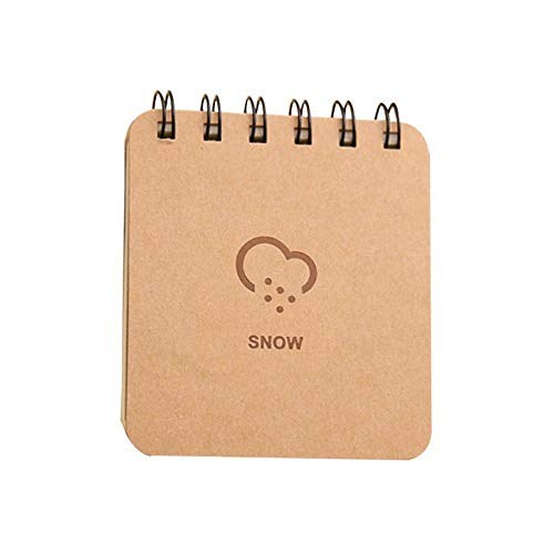 Kawaii Weather Forecast Series Coil Notebook Mini Printed Notepad Cute Spiral Note Book Sketchbook School Office Supplies Coffee