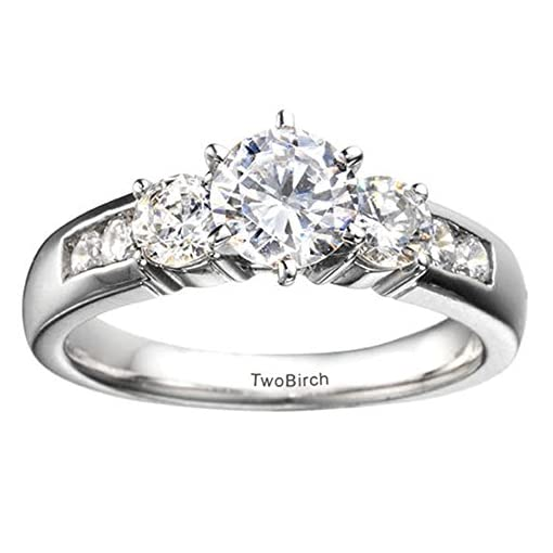Sterling Silver 1//4 CT Black /& White Diamond /& 1//2 CT Morganite Ring GH I2-I3