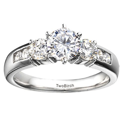 Size-12.5 Diamond Wedding Band in 10K White Gold 1//10 cttw, G-H,I2-I3