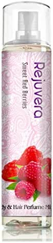 Rejuvera Korea Cosmetic Sweet Red Berries Fragrance All-Over Body & Hair Essence Perfume Mist 4.3oz