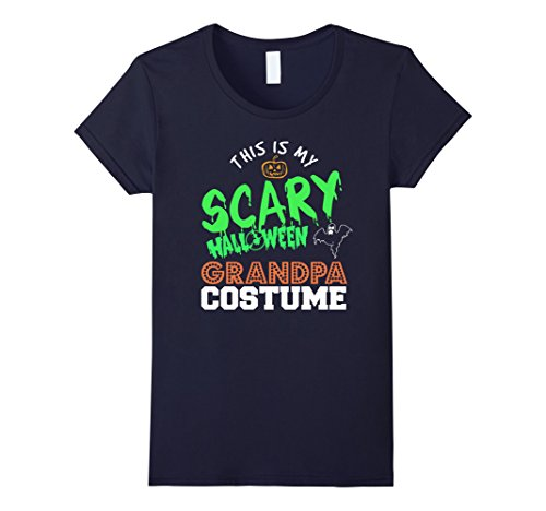 Women's This is my scary Halloween grandpa costume funny t-shirt XL Navy