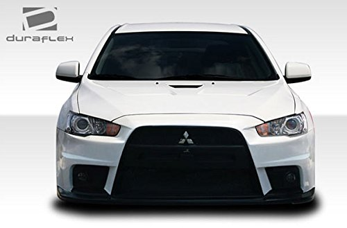 amazoncom 2008 2013 mitsubishi lancer duraflex evo x look front bumper cover 1 piece automotive