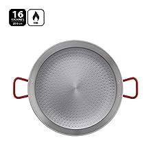 Metaltex - Paellera Acero Pulido 16 Raciones 55 cm