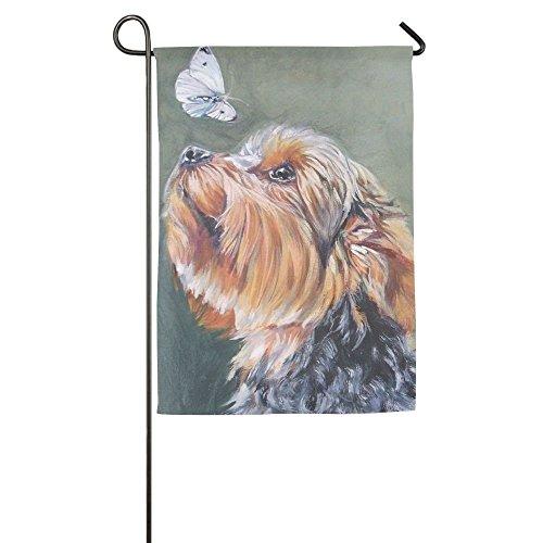 Cutadornsly Initial Yorkie Dog Animal Funny Porch Yard House Garden Flags 12 X 18 Semi Transparent Polyester Fiber Emblemize