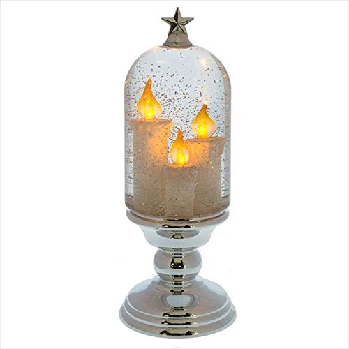 Cbk Pedestal - Midwest-CBK Lighted LED Shimmer Candle Cloche on Pedestal